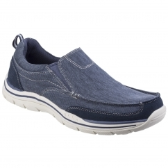 Skechers EXPECTED TOMEN Mens Slip On Loafer Shoes Navy Blue | Shuperb