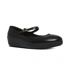 FitFlop™ F-POP™ MARY JANE Ladies Leather Mary Jane Shoes Black