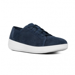 F-SPORTY™ Ladies Suede Perforated Trainers Midnight Navy
