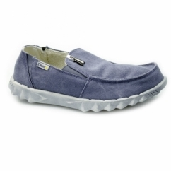 FARTY CHALET Mens Canvas Shoes Blue