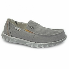 FARTY CHALET Mens Canvas Shoes Funk Grey