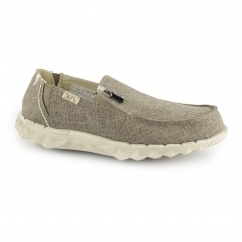 FARTY LINEN Mens Canvas Wide Mule Shoes Rope