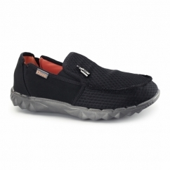FARTY MESH Mens Relaxed Fit Slip On Shoes Black