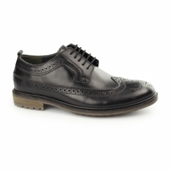 FENCHURCH Mens Leather Brogues Black
