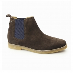 Base London FERDINAND Mens Suede Chelsea Boots Brown
