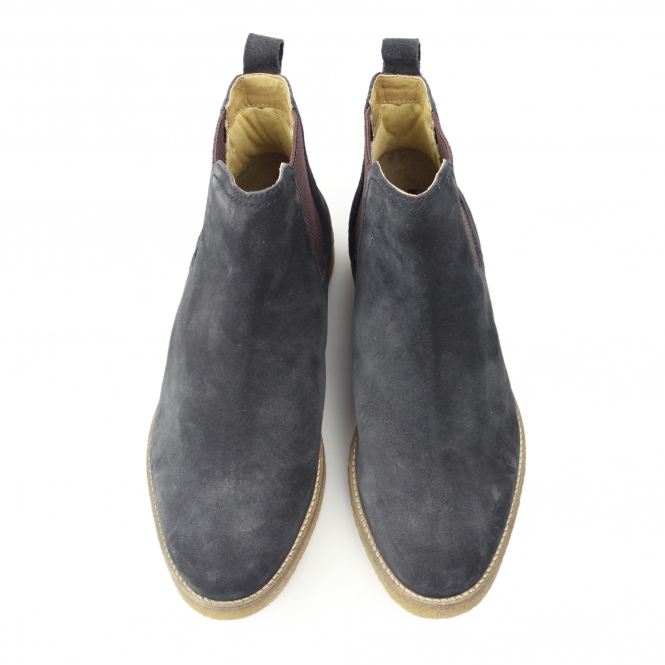 eeae8c75e8d45 Base London FERDINAND Mens Suede Chelsea Boots Navy