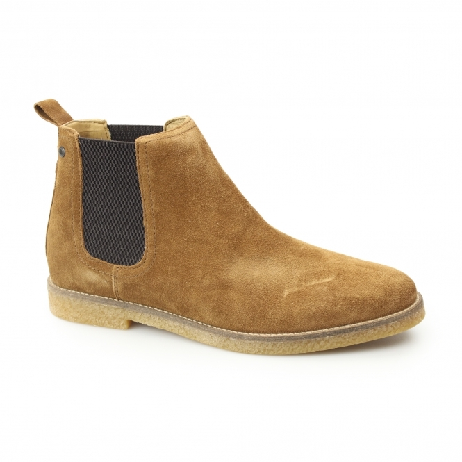 Base London Ferdinand Mens Suede Chelsea Boots Tan Shuperb