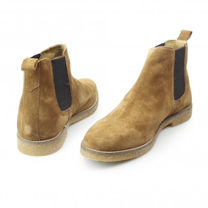 70183578d231 Base London FERDINAND Mens Suede Chelsea Boots Tan