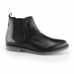 Base London FERDINAND Mens Leather Chelsea Boots Waxed Black