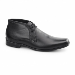 FEROCK BOOT 2 Mens Leather Chukka Boots Black