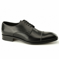 FINSBURY Mens Leather Derby Shoes Black
