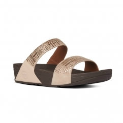 FitFlop AZTEK CHADA SLIDE™ Ladies Leather Mule Sandals Rose Gold