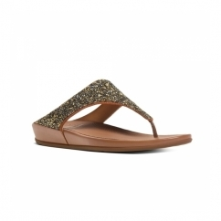 BANDA CRYSTAL™ Ladies Toe Post Embellished Sandals Bronze