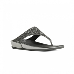 BANDA CRYSTAL™ Ladies Toe Post Embellished Sandals Pewter