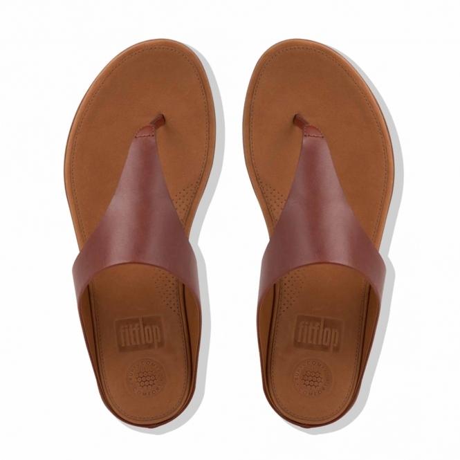 841043b00 FitFlop™ BANDA II™ Ladies Leather Toe Post Sandals Cognac