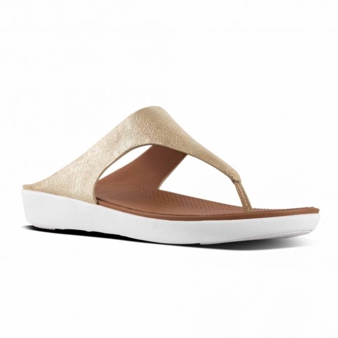 02c4f4c5c FitFlop™ BANDA II™ Ladies Leather Toe Post Sandals Metallic Gold ...
