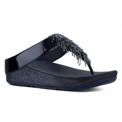 CHA CHA™ Ladies Faux Leather Toe Post Sandals Midnight Navy