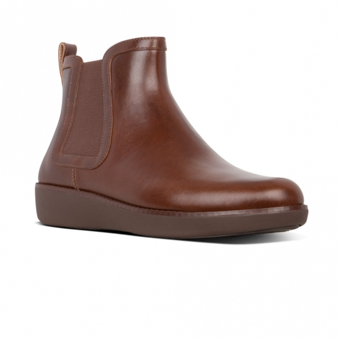big clearance sale new products for classic chic CHAI CHELSEA Ladies Leather Ankle Boots Chocolate Brown