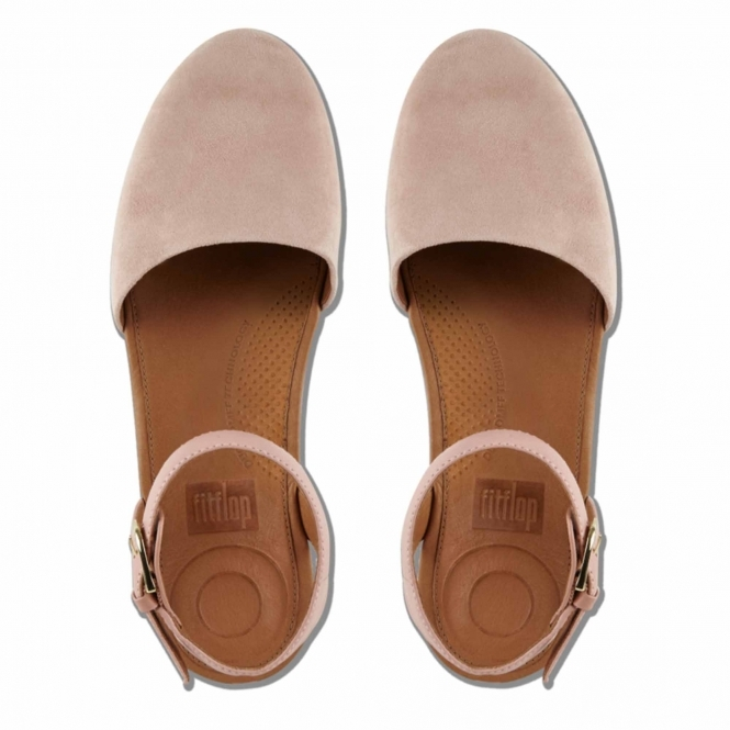 9ce7f9678 FitFlop™ COVA™ Ladies Suede Ankle Strap Closed-Toe Sandals Dusky Pink