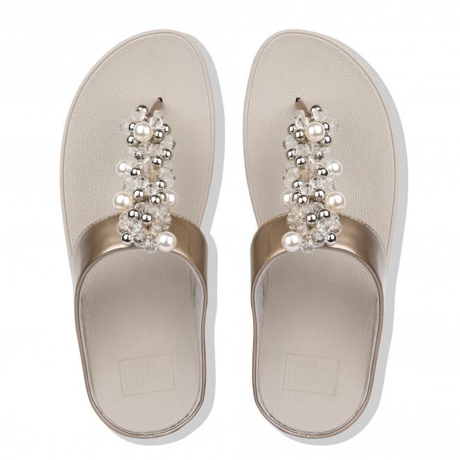 c8c9fec21 FitFlop™ DECO Ladies Embellished Toe Post Sandals Silver