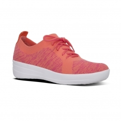 FitFlop™ F-SPORTY ÜBERKNIT™ Ladies Slip On Trainers Coral/Fuchsia
