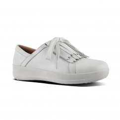 FitFlop™ F-SPORTY II™ Ladies Leather Fringe Trainers Urban White