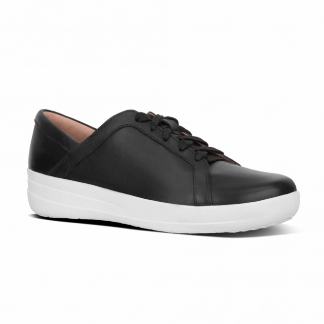 ee47923a118b0a ... FitFlop™ F-SPORTY II™ Ladies Leather Lace Up Trainers Black official  site 0da84 ...