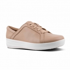 FitFlop™ F-SPORTY II™ Ladies Leather Lace Up Trainers Nude