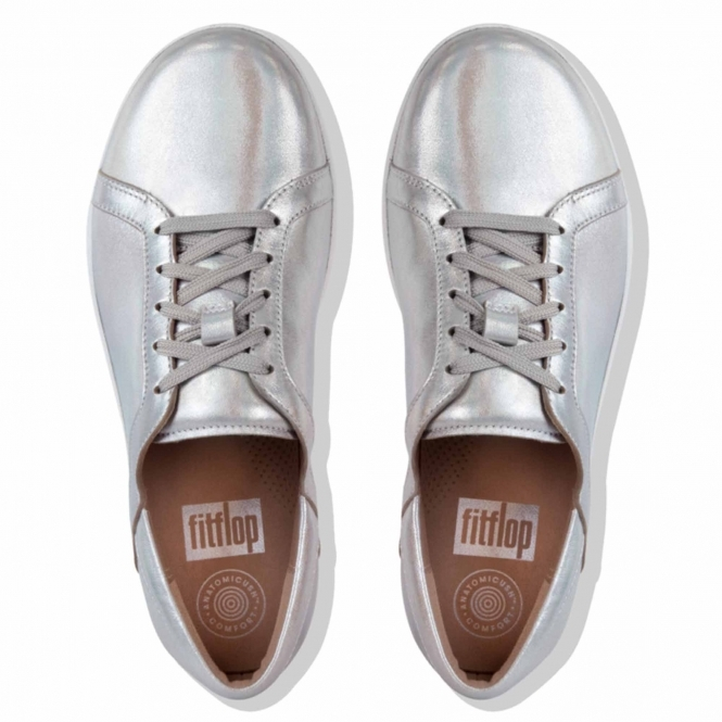 ladies tan leather trainers