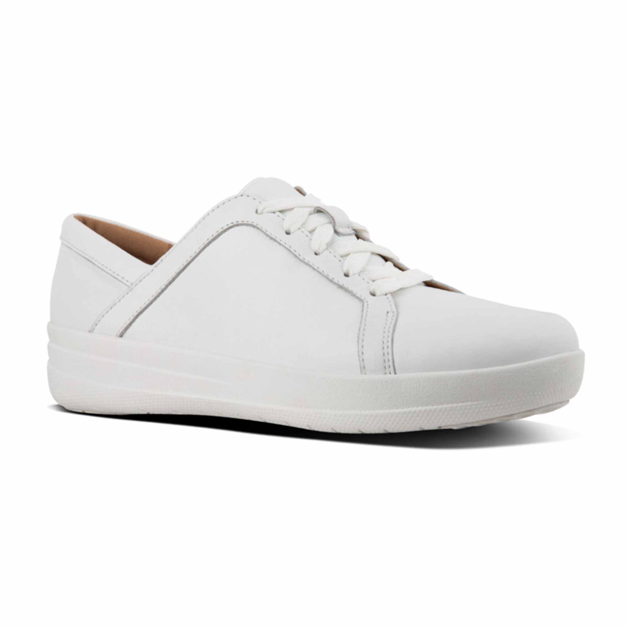 01bc9fad9e630 FitFlop™ F-SPORTY II Ladies Leather Lace Up Trainers Urban White ...