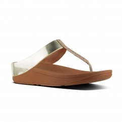 FitFlop™ FINO™ Ladies Crystal Toe Post Summer Sandals Gold