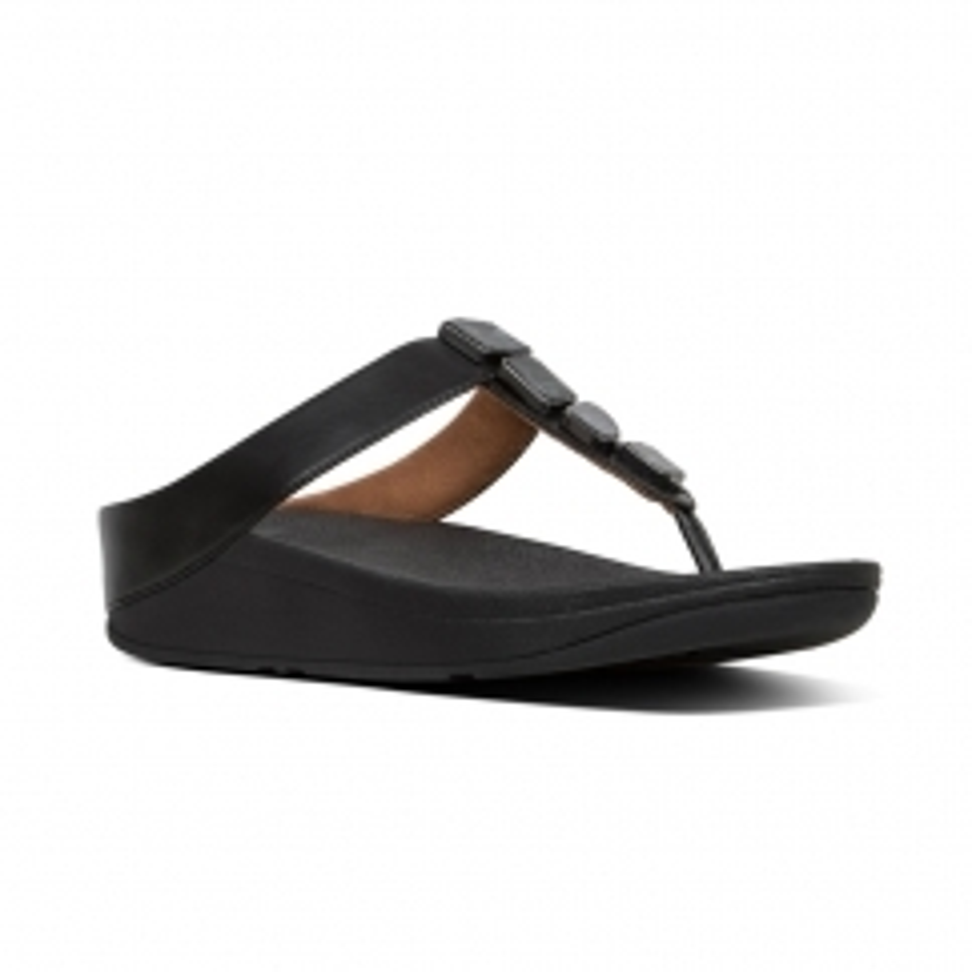 40d53d2c5 FitFlop FINO SHELLSTONE Ladies Toe Post Sandals Black