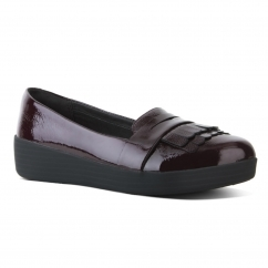 FRINGEY SNEAKERLOAFER™ Ladies Leather Loafers Deep Plum