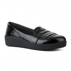 FRINGEY SNEAKERLOAFER™ Ladies Patent Leather Loafers Black