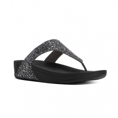 GLITTERBALL™ Ladies Shimmer Toe Post Sandals Pewter