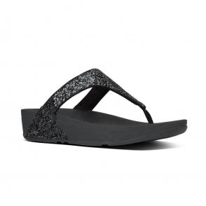 8ce2e09109de95 FitFlop™ GLITTERBALL™ Ladies Shimmer Toe Post Sandals Pale Gold ...