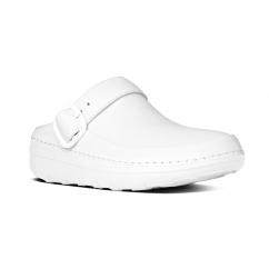 FitFlop™ GOGH PRO SUPERLIGHT™ Ladies Leather Clog Shoes Urban White