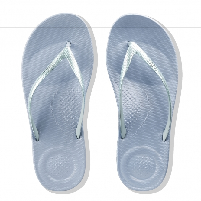 9183ca165264 FitFlop iQUSHION ERGONOMIC MIRROR M17-608 Flip Flops Powder Blue ...