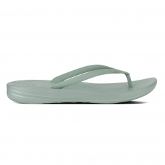 IQUSHION™ Ladies Ergonomic Toe Post Flip Flops Aqua
