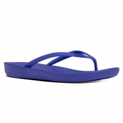 IQUSHION™ Ladies Ergonomic Toe Post Flip Flops Royal Blue