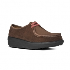 FitFlop™ LOAFF LACE MOC™ Ladies Moccasin Shoes Chocolate Brown