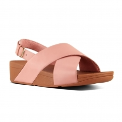 FitFlop™ LULU™ Ladies Leather Cross Back Sandals Dusky Pink