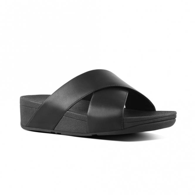 0bfc2a8c69d99 FitFlop LULU CROSS K04-001 Slide Sandals Black