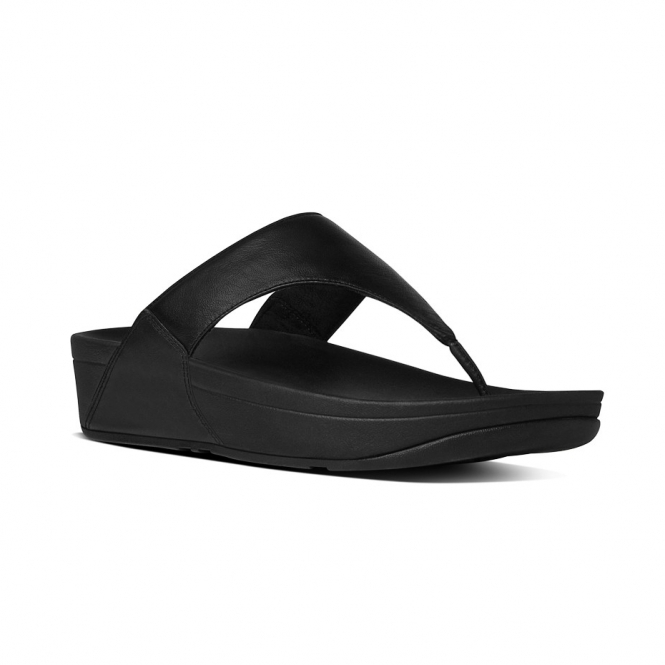 fa43c211f08a1b FitFlop LULU I88-001 Toe Post Sandals Black