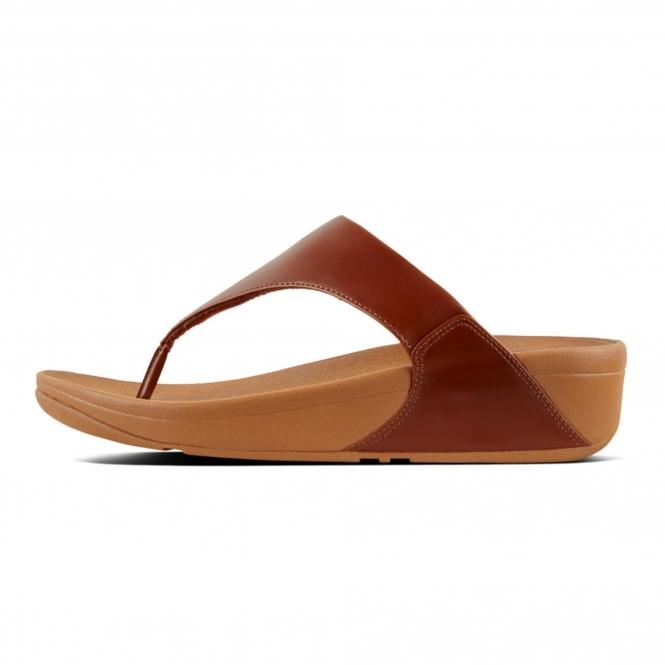 3a08b3929 FitFlop™ LULU™ Ladies Leather Comfy Toe Post Sandals Caramel
