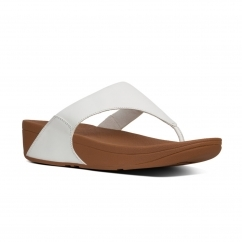 FitFlop™ LULU™ Ladies Leather Toe Post Casual Sandals Urban White