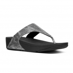 FitFlop™ LULU™ Ladies Toe Post Sandals Black Shimmer