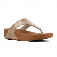 FitFlop™ LULU™ Ladies Toe Post Sandals Gold Shimmer