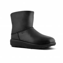 FitFlop™ MUKLUK SHORTY™ II Ladies Leather Warm Boots Black