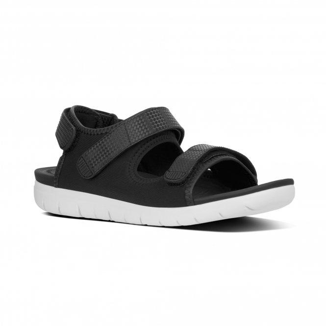 bf86e5ae3 FitFlop™ NEOFLEX™ Ladies Back Strap Touch Fasten Sandals Black